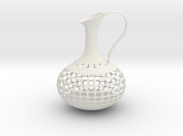 Vase 1900D in White Natural Versatile Plastic