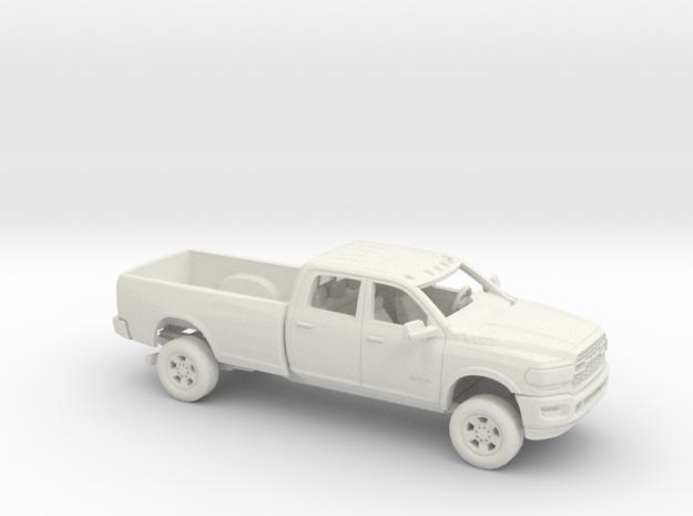 1/64 2019 Dodge Ram Crew Cab Long Bed Kit in White Natural Versatile Plastic