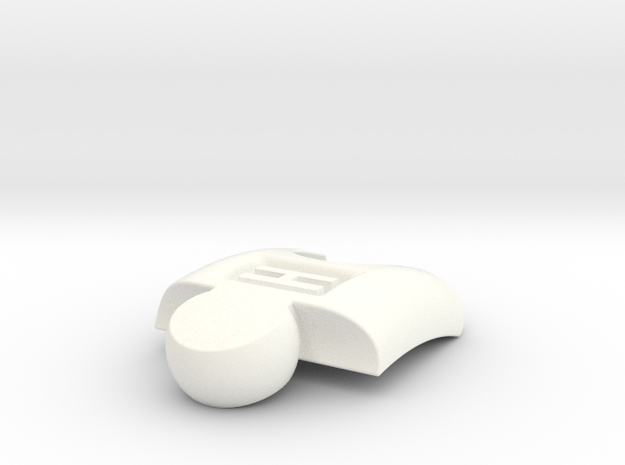 PuzzlelinkletterH in White Processed Versatile Plastic
