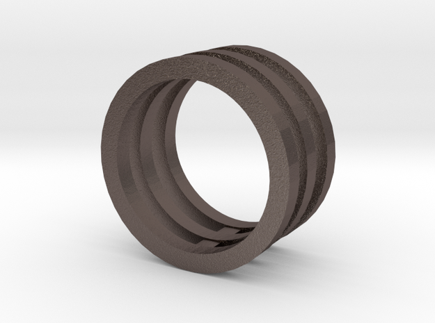 Innovation inspired rings 14-karat roses gold ring in Polished Bronzed Silver Steel