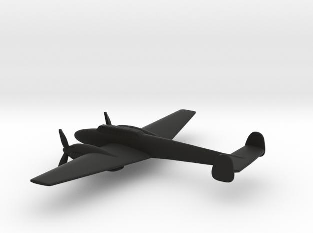 Messerschmitt Bf 110 (w/o landing gears) in Black Natural Versatile Plastic: 1:200