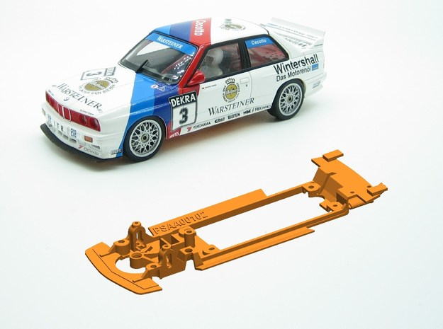 PSAA00102 Chassis for Autoart BMW M3 E30 in White Natural Versatile Plastic