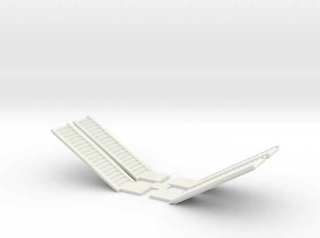 Concrete Stair Run 18 Risers (N scale) in White Natural Versatile Plastic