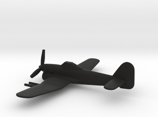 Hawker Typhoon (w/o landing gears) in Black Natural Versatile Plastic: 1:160 - N