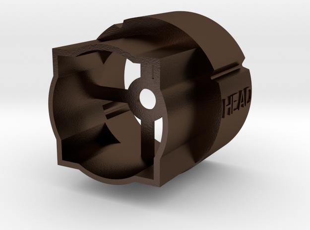 4-spline wood dowel power coupler end in Polished Bronze Steel