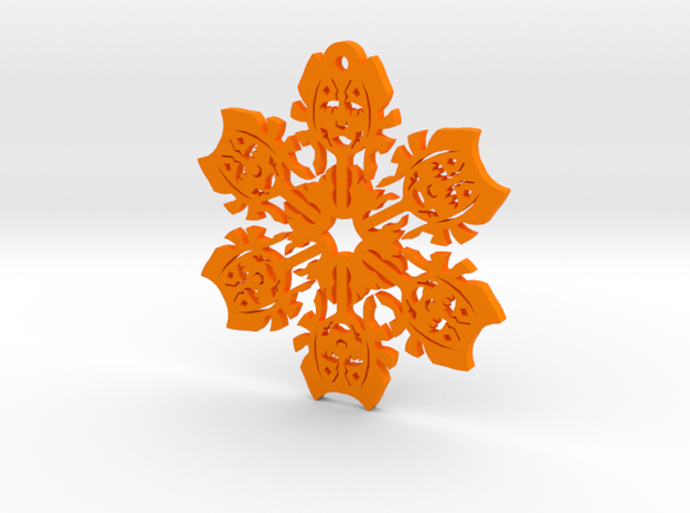 Nerdy Snowflakes - Ahsoka - 3in in Orange Processed Versatile Plastic