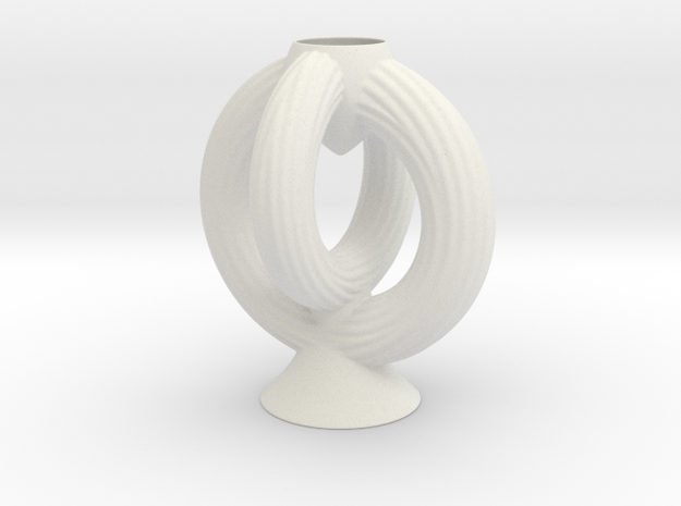 Vase 1801V in White Natural Versatile Plastic