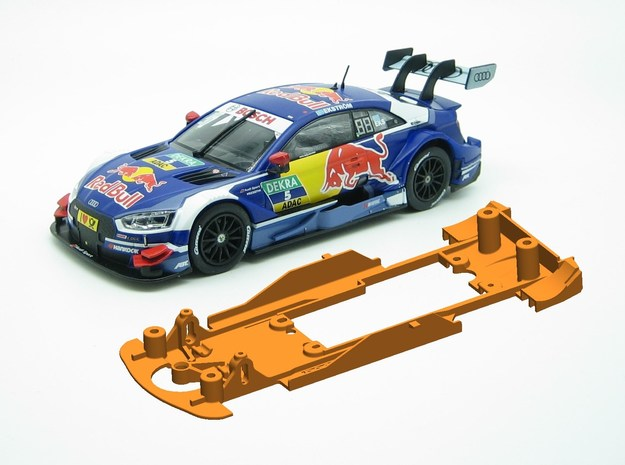PSCA02001 Chassis Carrera Audi RS 5 DTM 2018 in White Natural Versatile Plastic