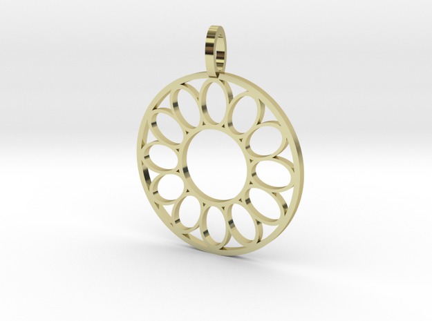 ring of ovals pendant in 18k Gold Plated Brass