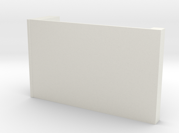 CNR Diner Locker wall (Left side)  in White Natural Versatile Plastic
