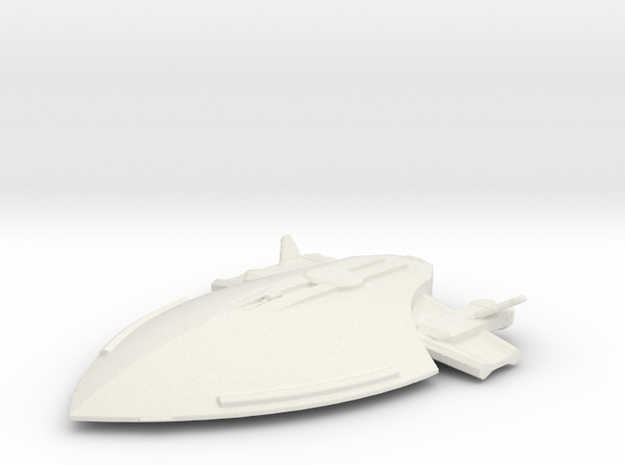 Federation attack ship in White Natural Versatile Plastic