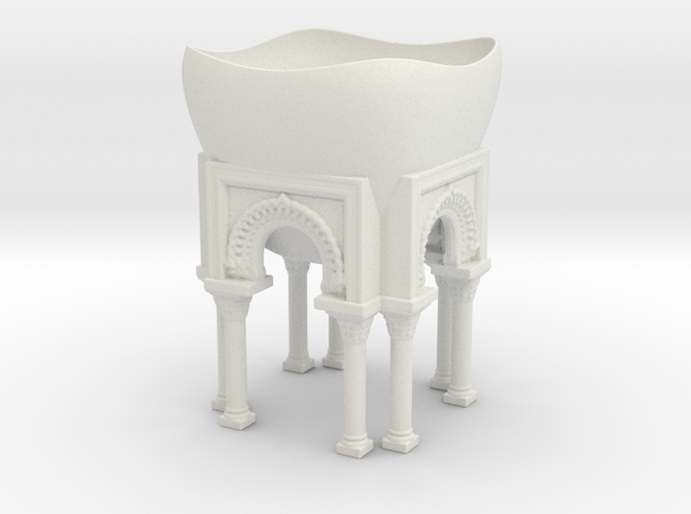 Arches planter in White Natural Versatile Plastic