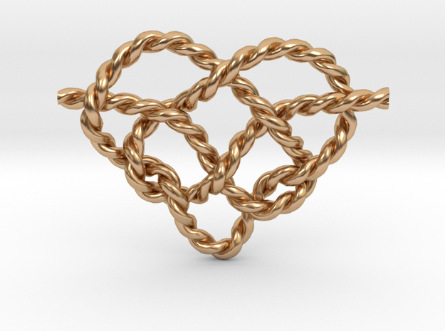 Heart Knot in Polished Bronze