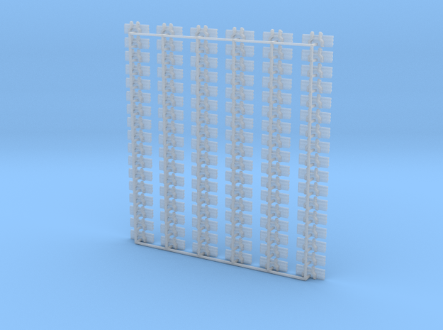 Kette 3 steg 15mm (750mm) innen 3mm 1:50 in Smooth Fine Detail Plastic