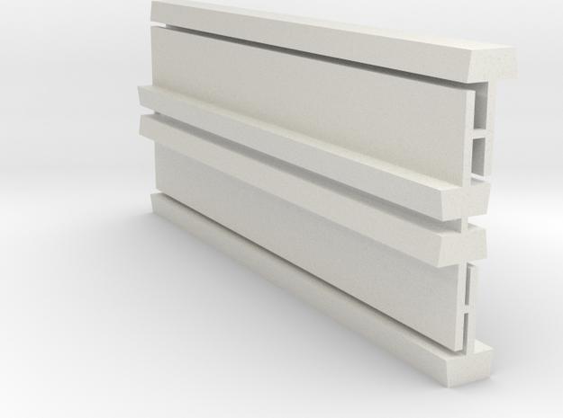 Profil-Halbzeug Set 4 Waggon-Sitzbank - 1:120 TT in White Natural Versatile Plastic