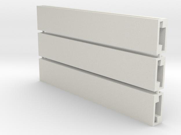 Profil-Halbzeug Set 3 Waggon-Sitzbank - 1:120 TT in White Natural Versatile Plastic