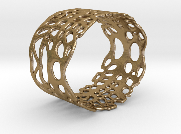 napkin ring 002 in Polished Gold Steel