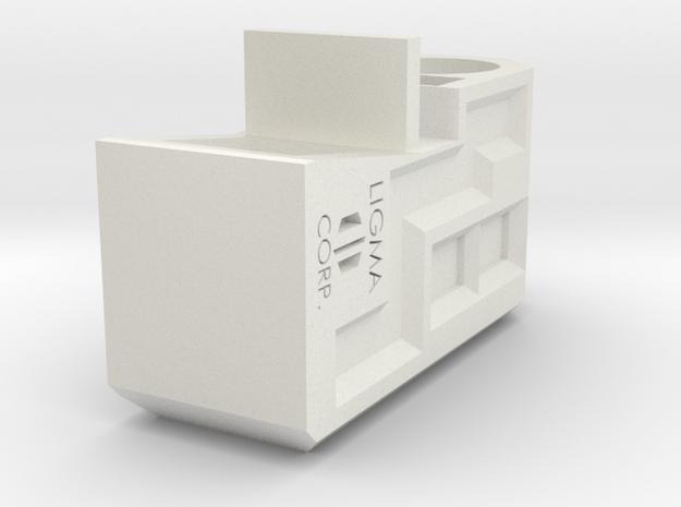 LIGMA CORP. Custom Compensator for TM 4.3 Hi-Capa in White Natural Versatile Plastic