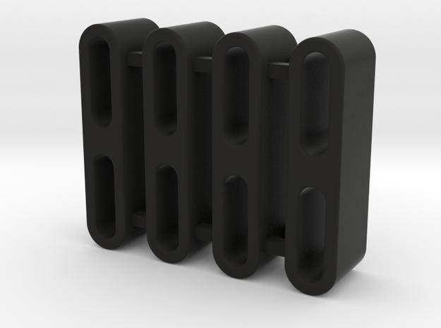 TRX-4 - ROCK SLIDER SPACER-SHAPEWAYS-10MM in Black Natural Versatile Plastic