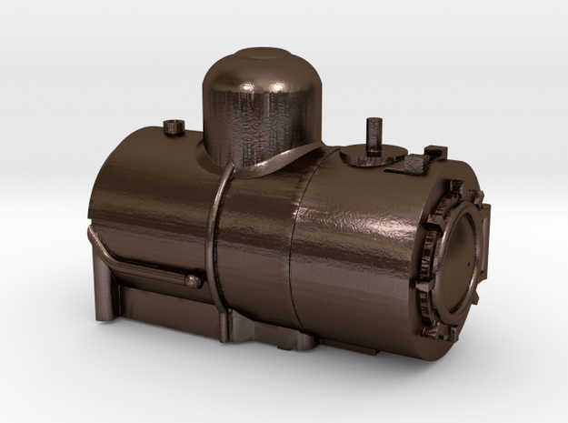 Rounded Dome Boiler for the HOn30 Coffee Creek Hea in Polished Bronze Steel