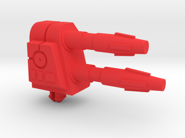Starcom Missile Fox Cannon (RH) in Red Processed Versatile Plastic