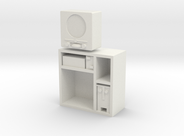 1:18 German DKE 38b Radio in Cabinet in White Natural Versatile Plastic
