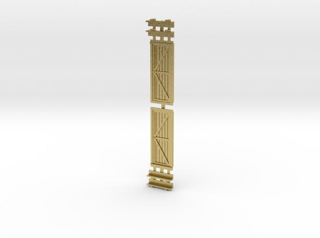 Logging Bobber Caboose Doors And Steps in Natural Brass