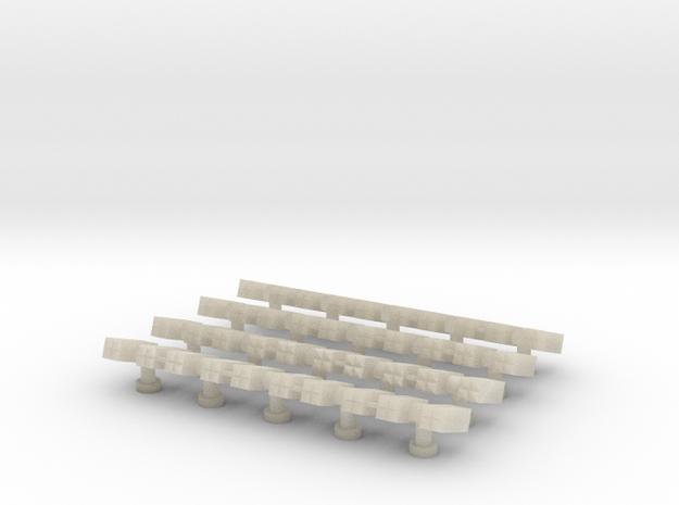Sea Sparrow Launcher (20x) (1:300) in White Acrylic