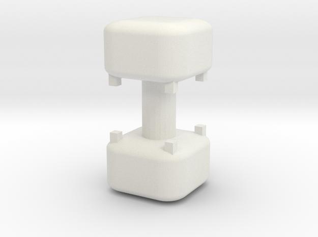 Footrest Pouf (x2) 1/48 in White Natural Versatile Plastic