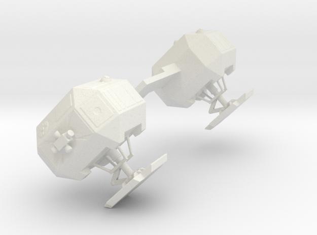 8 Inch Eagle Kit Forward pods (part #5) in White Natural Versatile Plastic