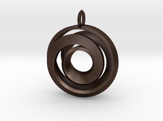 Single Strand Spiral Pendant