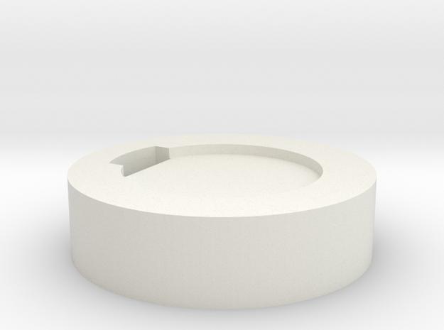 Blade Plug bottom in White Natural Versatile Plastic