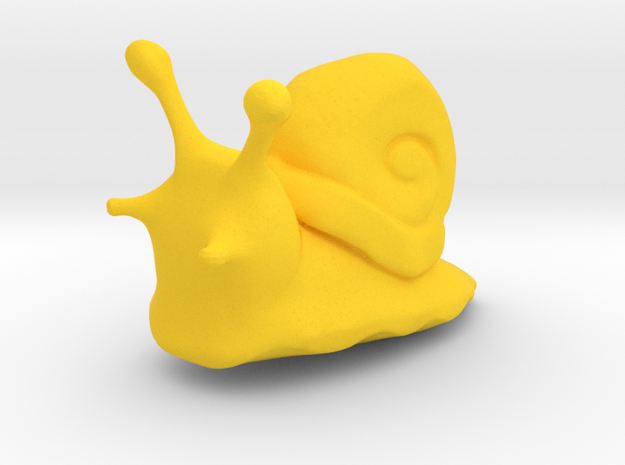 A little snail in Yellow Processed Versatile Plastic