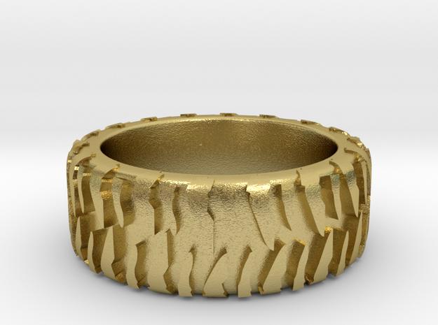 ASJTR-10010-10-Mud Tire in Natural Brass