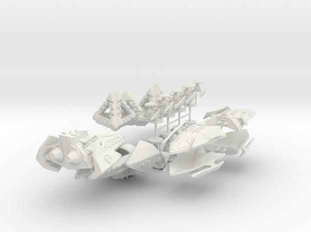 Robot Ship Pack in White Natural Versatile Plastic
