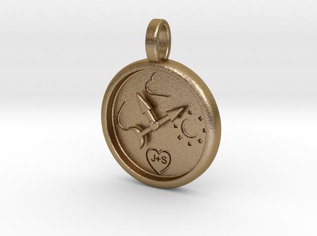 Barometer in Polished Gold Steel