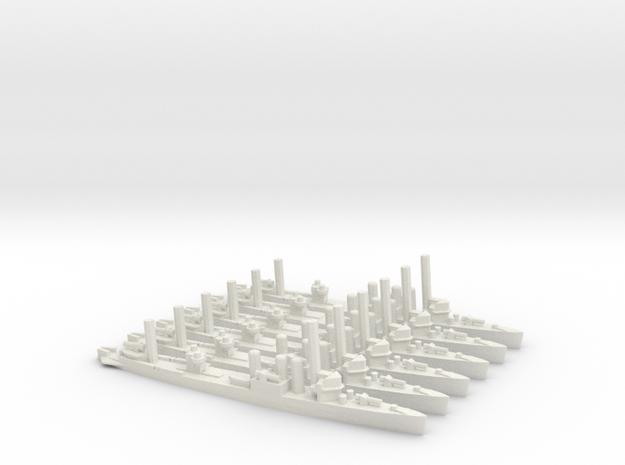 US Clemson-class Minelayer (x6) in White Natural Versatile Plastic