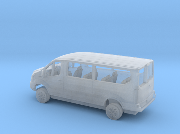 1/87 2018 Ford Transit Passenger Van Kit in Smooth Fine Detail Plastic