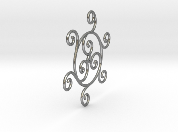 Triskelion in Natural Silver
