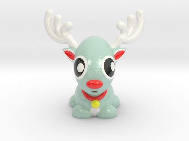 RUDOLPH REINDEER in Glossy Full Color Sandstone