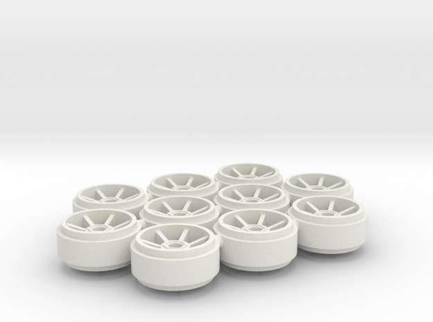 SCX_Porsche_220 in White Natural Versatile Plastic