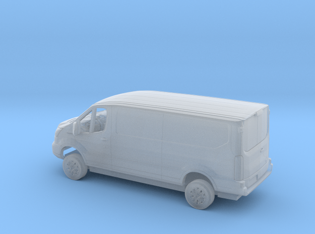 1/87 2018 Ford Transit Flat Delivery Kit in Smooth Fine Detail Plastic