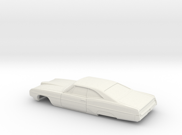 1/32 1968 Pontiac Bonneville Coupe Shell in White Natural Versatile Plastic