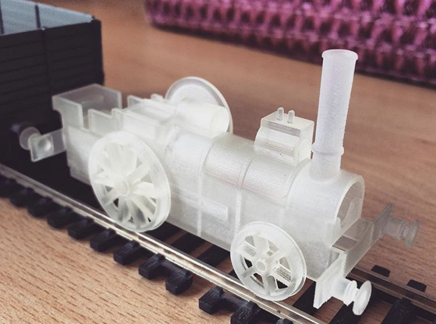 """OO Aveling Porter """"Blue Circle"""" Loco Body in Smooth Fine Detail Plastic"""