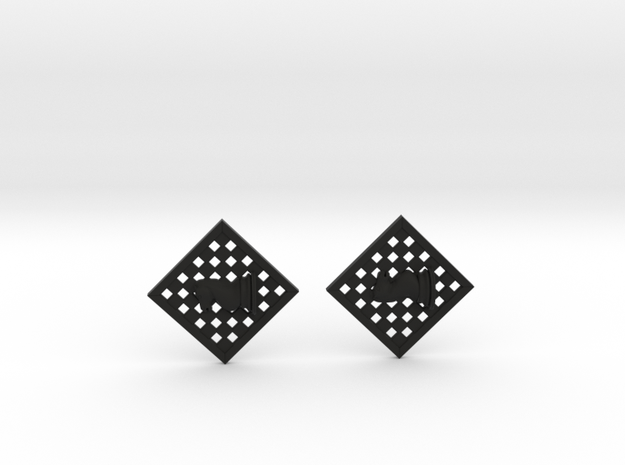 Chess Earrings - Knight 3d printed