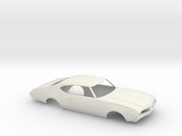 1/16 1969-72 Oldsmobile 442 Open Shell in White Natural Versatile Plastic