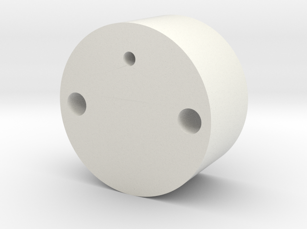 Jason S: Lower Chamber Mount in White Natural Versatile Plastic