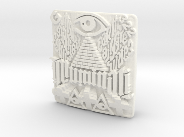 Illuminati Belt Buckle 3d printed