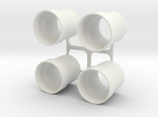 SCX10 Shock Spring spacer in White Natural Versatile Plastic