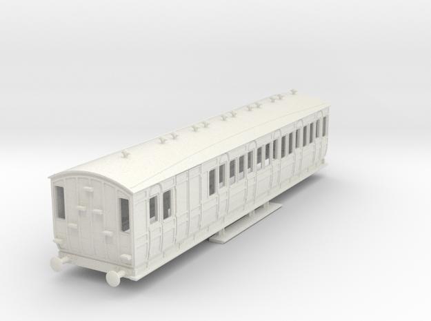 o-76-met-orig-ashbury-bogie-brake-third-coach in White Natural Versatile Plastic
